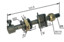 Шток для лобзиков китайского производства (010173C) ПЛЭ-1-06