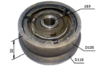 Сцепление для виброплиты под шпонку, внутренний диаметр 19мм