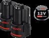 Аккумуляторный блок Bosch 2 x GBA 12V 2.0Ah Professional (арт. 1600Z00040)