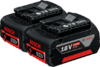 Аккумуляторный блок Bosch Комплект аккумуляторов GBA 18 В 4,0 А*ч M-C Professional (арт. 1600Z00042)