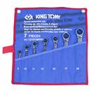 Набор комбинированных трещоточных ключей 8-19мм 7шт KING TONY 12107MRN01