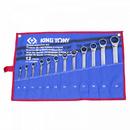 Набор комбинированных трещоточных ключей (8-24 мм, чехол из теторона, 12 предметов) KING TONY 12112MRN