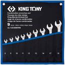 Набор комбинированных ключей, 8-19 мм, чехол из теторона, 9 предметов KING TONY 12D09MRN