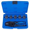 Кримпер храповичный для обжима изолированных наконечников, 7 предметов, кейс KING TONY 42107GX