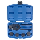 Кримпер храповичный для обжима изолированных наконечников, 5 предметов, кейс KING TONY 67G0005