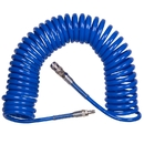 Шланг пневматический спиральный высокого давления 8х12 мм, 15 м, полиуретановый, фитинги KING TONY 79962-15