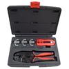 Набор для обжима и зачистки кабелей, кейс, 5 предметов, МАСТАК, арт. 106-40005C