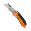 Нож строительный PATRIOT, CKF-5 с трапециевидным лезвием, складной, 5 лезвий в комплекте, 350004412