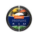 Леска PATRIOT Profline D 2,4 мм L 15 м (скрученный квадрат, черный) 240-15-5 на пластиковой обойме PATRIOT 805402206