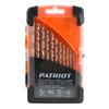 Набор сверл по металлу PATRIOT, быстрорежущая сталь, 13 шт: 1,5-6,5мм, в пластиковом боксе, 815010104