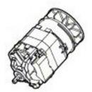 Мотор для триммера Bosch ART 37 (арт. F016F04241)