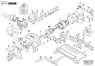 1619X01696 Якорь дисковой пилы Bosch GKS 65 ( 165*57 9-з влево)