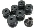 Амортизаторы в комплекте для бензопил 45-52 в наборе (опорные резинки 6шт., пружина, болт)