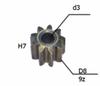 Шестерня двигателя шуруповерта (1) внутр.d 3мм, внеш.d 8мм, высота 7мм, 9 зубов