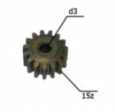 Шестерня двигателя шуруповерта (10) внутр.d 3мм, внеш.d 11,6мм, высота 8мм, 15 зубов