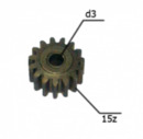 Шестерня двигателя шуруповерта (9) внутр.d 3мм, внеш.d 11,6мм, высота 7мм, 15 зубов