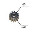 Шестерня двигателя шуруповерта (13) внутр.d 3мм, внеш.d 8,5мм, высота 5,3мм, 12 зубов