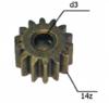 Шестерня двигателя шуруповерта (7) внутр.d 3мм, внеш.d 10мм, высота 7мм, 14 зубов
