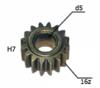 Шестерня двигателя шуруповерта (5) внутр.d 5мм, внеш.d 11,4мм, высота 7мм, 16 зубов